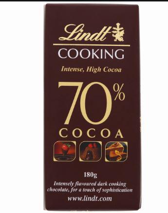 Lindt Cooking 70% COCOA 180gm - MarkeetEx