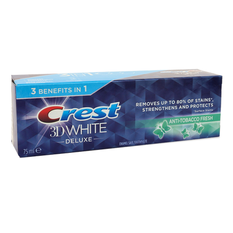CREST 3DW DELUXE ANTI TOBACCO FRESH 75ML - MarkeetEx