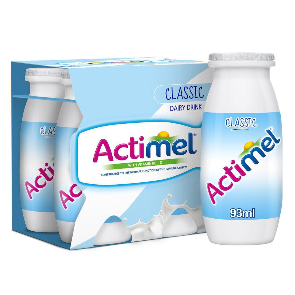 Actimel Classic - Plain Dairy Low Fat Drink - 93ml X 4pcs Pack