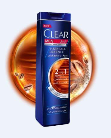 CLEAR MEN HAIR FALL DEFENCE 2 IN 1 SHAMPOO + CONDITIONER 400ML