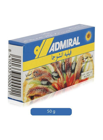 ADMIRAL Fillets of Anchovies in Sunflower Oil 50gm - MarkeetEx