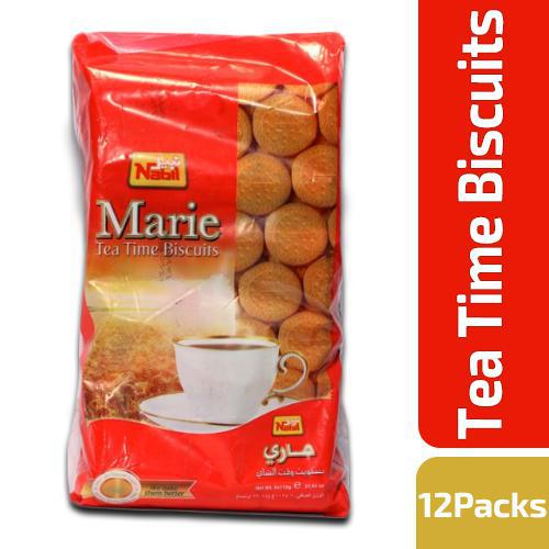Nabil Marie Tea Time Biscuits 12x56gm Pack - MarkeetEx
