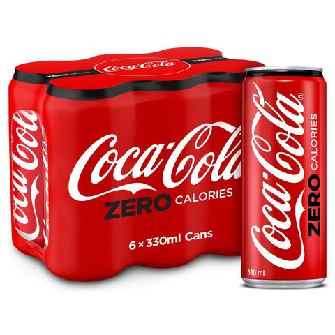 Coca Cola Zero Calories 6pcsX330ml Pack