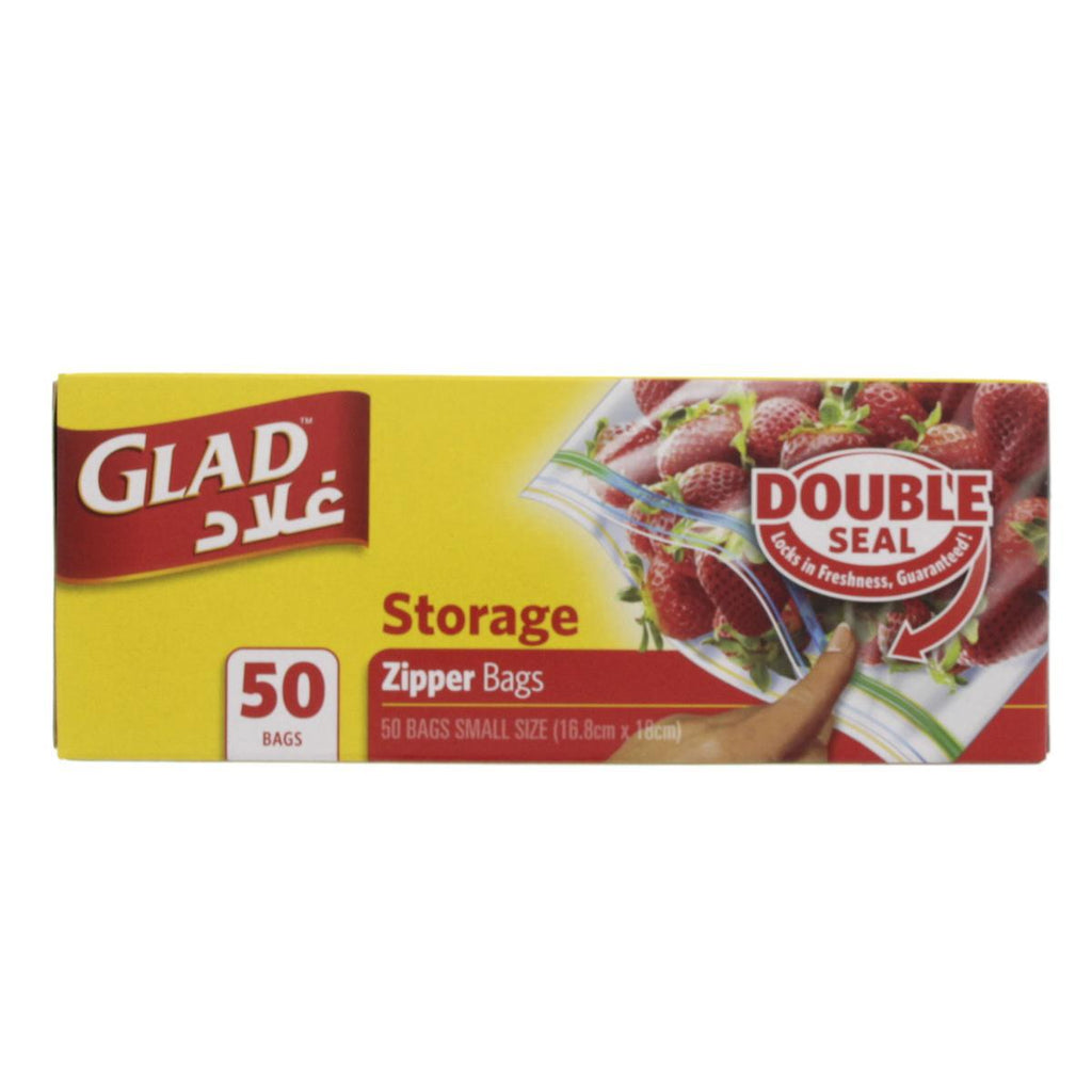GLAD Storage Zipper Bags 50pcs Pack-  أكياس للحفظ جلاد - MarkeetEx