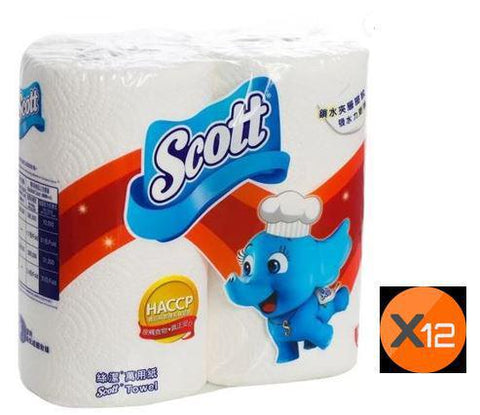 KITCHEN TOWEL SCOTT 2PC X 12PCS