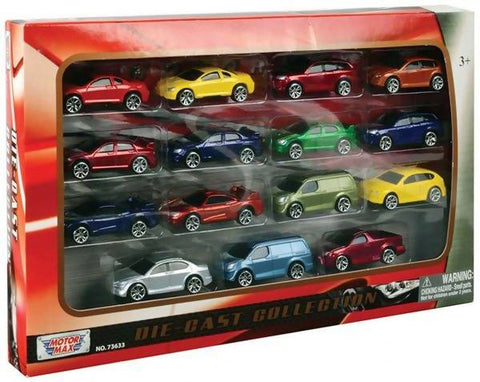 "DIE CAST 3"" VEHICLE SET 15PC ( ALL NON-LICENSED CAR )"