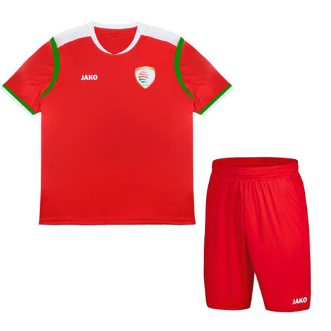 OMAN FOOTBALL JERSEY W/SHORTS FOR KIDS SIZE 22 ( 10-11 YEARS)