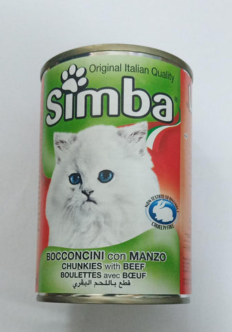 Simba Bocconcini Chunkies with Beef 415gm-50-C