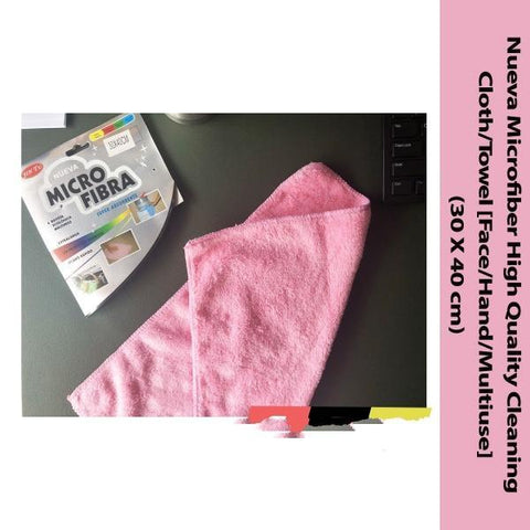 NUEVA Microfiber High Quality Cleaning Cloth/Towel (30cm X 40cm) - 3Pcs Set