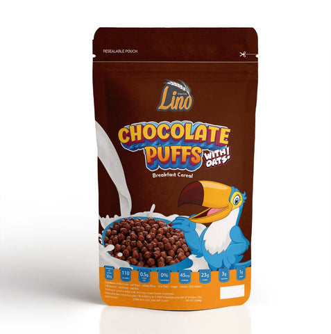 Choco Puffs Oats Lino Breakfast Cereal 250 gm