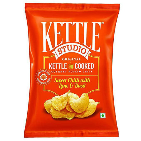 Kettle Studio Potato Chips Sweet Chilli With Lime & Basil 125g - MarkeetEx