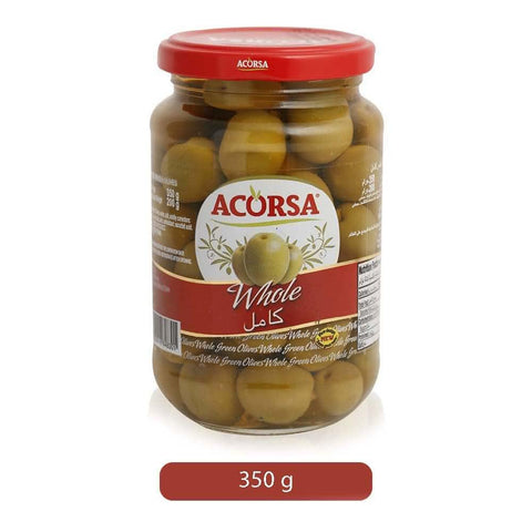ACORSA Green Whole Olives 350gm