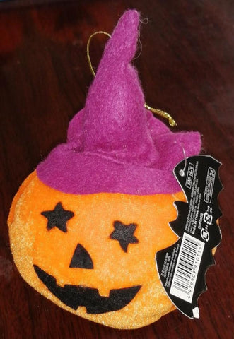 Halloween Mascot(Fluffy) Witch Hat Pumpkin, Orange - MarkeetEx