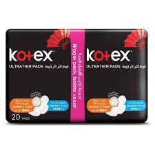 Kotex Ultra Thin Pads 20 Pads Pack - Normal+Wings