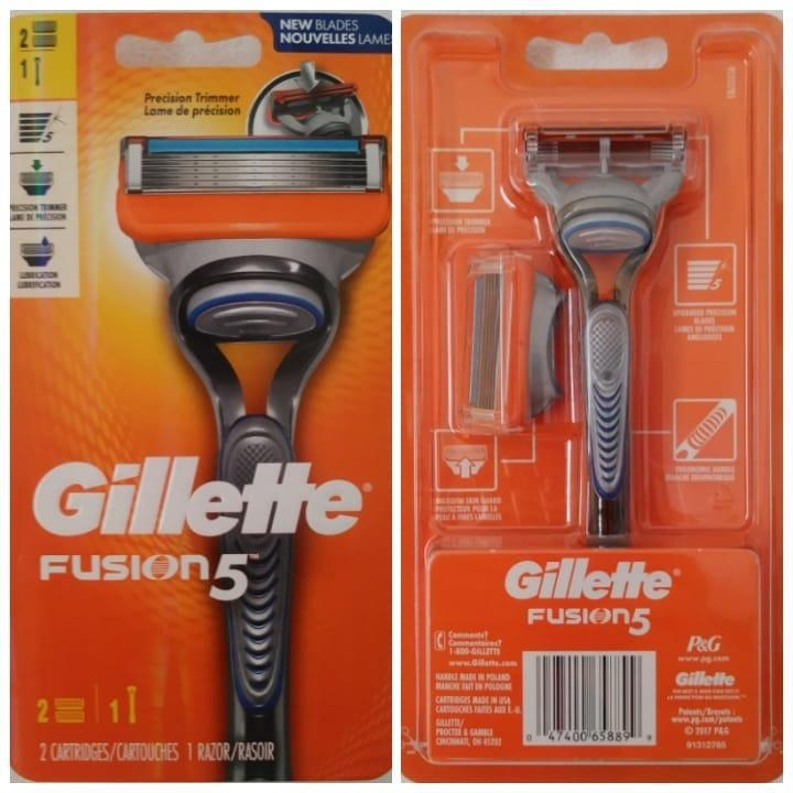 GILLETTE FUSION MANUAL RAZOR WITH 2 CARTRIDGES UP NEW - MarkeetEx