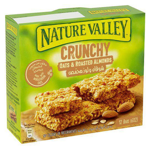 Nature Valley Crunchy Oats & Roasted Almonds 12 Bars (6X2) Pack