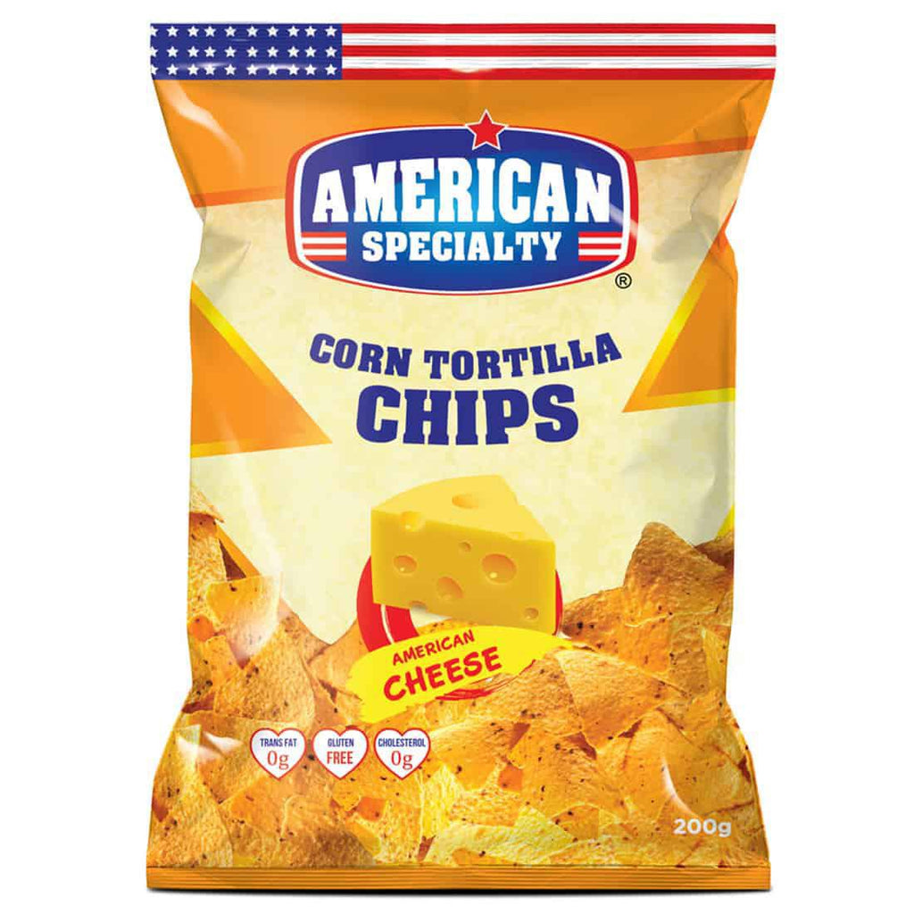 American Specialty - Corn Tortilla Chips - American Cheese - 200gm - MarkeetEx