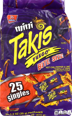 Chips Takis Fuego (35gm x 25PC ) - حقيبة شيبس تاكيس