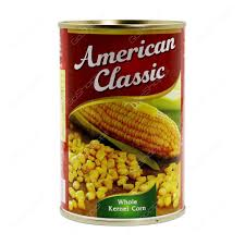 American Classic Whole Kernel Corn Tin 425gm