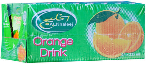 Al Khaleej Orange Drink 225mlX24Pcs - MarkeetEx