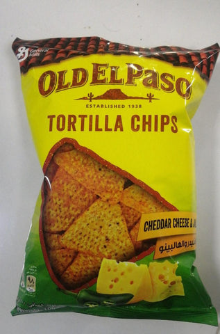 OLD EL Paso Tortilla Chips Cheddar Cheese & Jalapeno 100gm - MarkeetEx