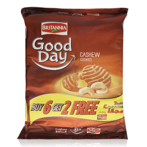 Britannia Good Day Cashew Cookies 90gm (6+2 Pack)