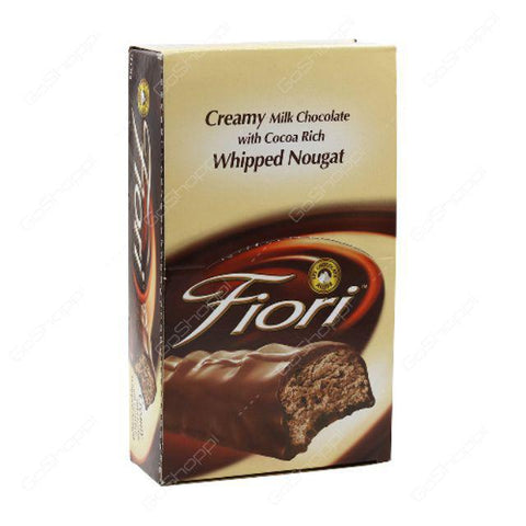 Fiori Creamy Milk Chocolate with Cocoa Rich Whipped Nougat 24pcsX18gm Pack