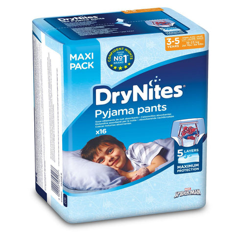 Drynites Pyjama Pants Age 3-5Years Boy 16-23kg 16pcs-36-A