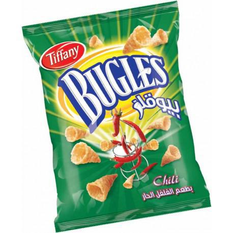 Tiffany Bugles - Crispy Corn Snacks - Chili - 90gm Pack