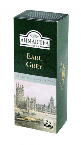 Ahmad Tea London Earl Grey 25 Tea Bag Pack - MarkeetEx