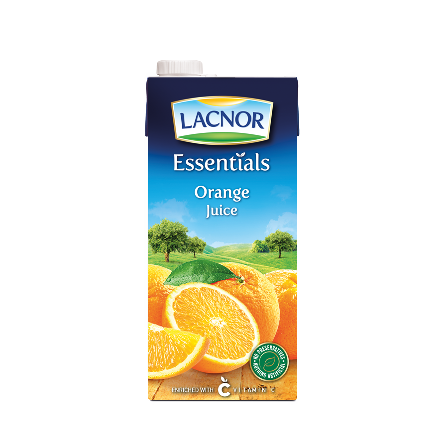 Essentials Orange Juice Lacnor 1 Ltr