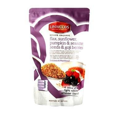 Linewoods Milled Organic - Flax, Sunflower, Pumpkin & Sesame Seeds & Goji Berries - 200gm