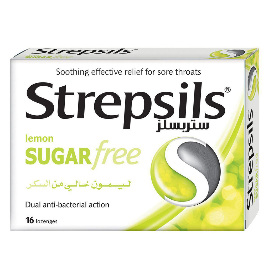 Strepsils Lemon Sugar Free 16 Lozenges Pack - MarkeetEx