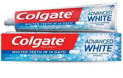 Colgate Toothpaste Advanced White 125ml - MarkeetEx