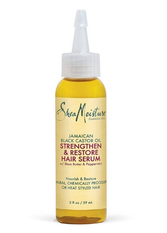 SheaMoisture : Jamaican Black Castor Oil, Strengthen & Restore Hair Serum, (59 ml) - MarkeetEx