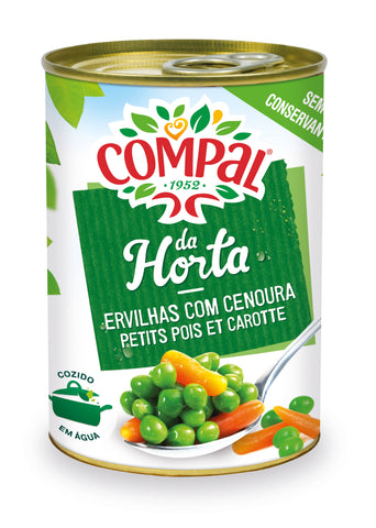 Peas with Carrot Compal Canned Vegetables 410 GM