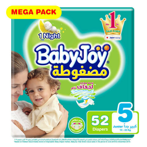 BabyJoy Diapers Mega Pack Junior - Stage 5 / 52 Diapers