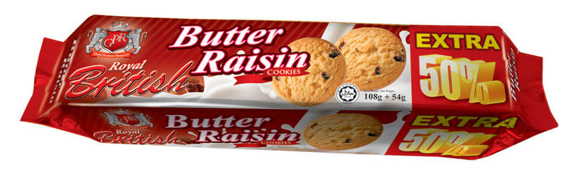 GPR Royal British -Butter Raisin Cookies 162 GM - MarkeetEx