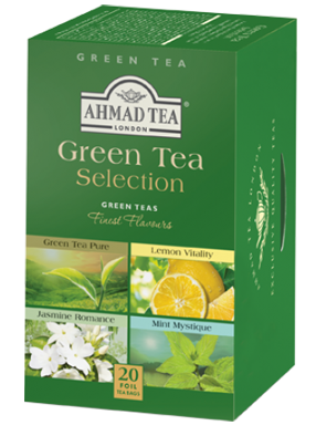 Ahmad Tea London Green Selection 20 Tea Bags Pack