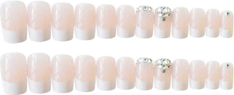 FRENCH SQUARE NAILS 24 Pcs + 1 sheet tape - MarkeetEx