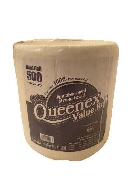 Queenex tissue roll (500 Sheets/ 1 ply) - MarkeetEx