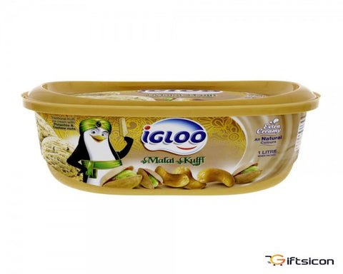Ice Cream Pistachio&Cashew nut IGLOO 1Ltr