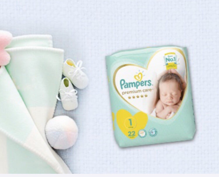 pampers premium care New Born stage 1 - 22 daipers - MarkeetEx