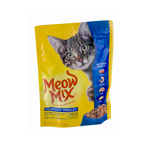 Meow Mix Seafood medley Cat food 510 gm