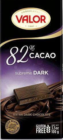 Dark Chocolate VALOR 82% CACAO SUPREME