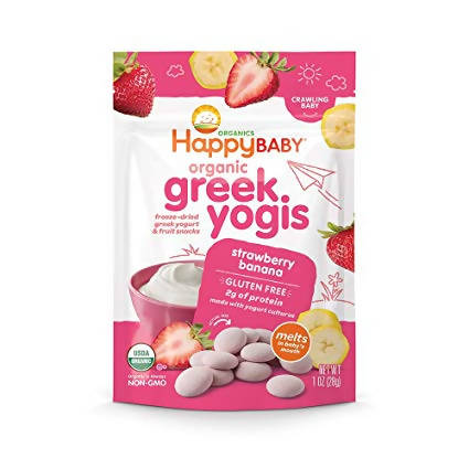 Happybaby Organic Greek Yogis Strawberry Banana 28gm