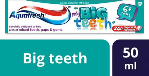 Aquafresh Big Teeth Toothpaste Kids 50ml - MarkeetEx