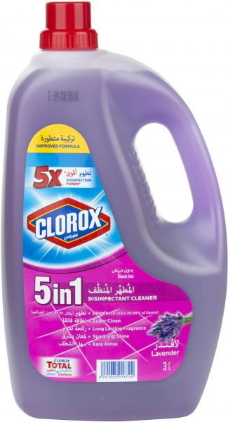Clorox Disinfectant Cleaner 5 in 1 Lavender, 3 Liter - MarkeetEx