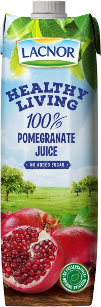 Lacnor Healthy Living Pomegranate Juice 1L  - عصير الرمان - MarkeetEx