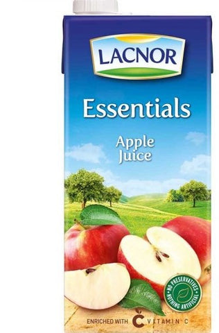 Lacnor Essentials Apple Fruit Juice 1 Ltr- عصير تفاح  لاكنور